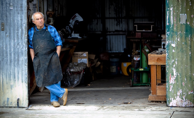 Yvon Chouinard at the Tin Shed, Ventura, CA 2010
