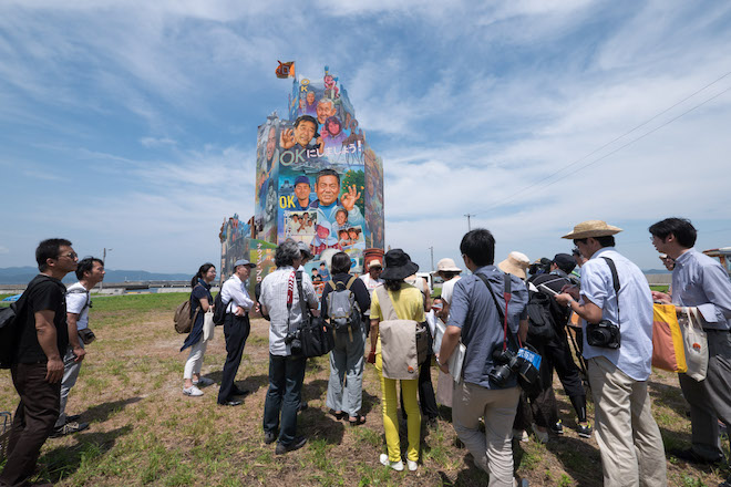 《OK Tower》 OK Tower, 2016 Installation view at Nishiura village, Megijima, Japan Photo by Navin Production