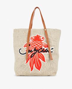 シーバイクロエから、マグノリアの花や金魚をモチーフにしたトートバッグ「ANDY」が登場