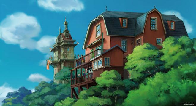 ジブリパーク「青春の丘エリア」デザイン画 © Studio Ghibli
