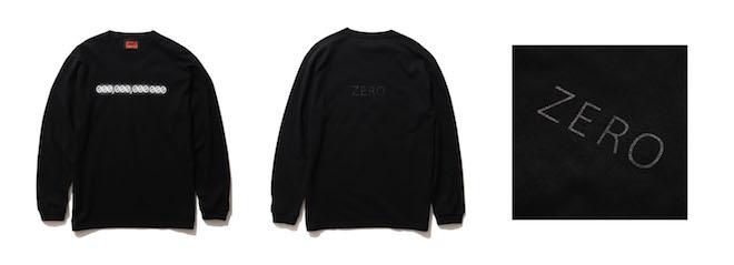 EDEN × BEAMS ZERO LONG SLEEVE T Color:BLACK Price:¥6,600(inc.tax) Size:S/M/L/XL/XXL