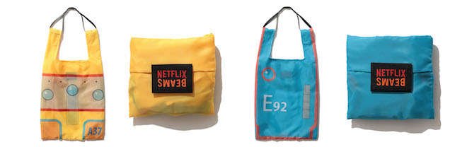 EDEN × BEAMS 3WAY SHOPPING BAG Color:YELLOW、BLUE Price:¥4,180(inc.tax)Size:W37cm×H44cm×D20cm 持ち手 75cm(仮)