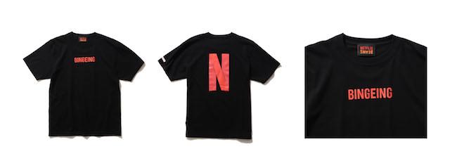 Netflix × BEAMS BINGEING T-SHIRT Color:BLACK Price:¥5,280(inc.tax) Size:S/M/L/XL/XXL