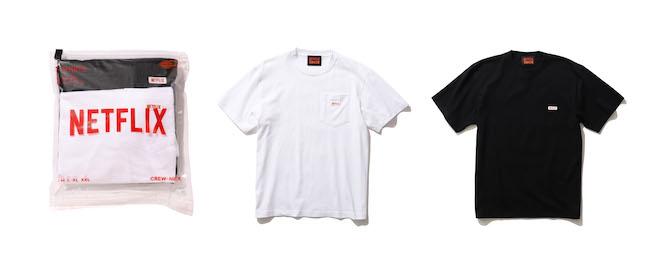 Netflix × BEAMS 2PACK POCKET T-SHIRT Color:WHITE / BLACK Price:¥7,700(inc.tax) Size:S/M/L/XL/XXL